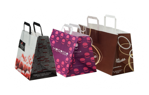 Bolsas de papel personalizadas. Fabrica de bolsas de papel en Madrid con servicio para toda España.