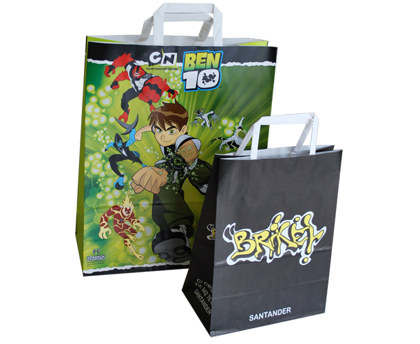 fabricante de bolsas de papel asa plana 3