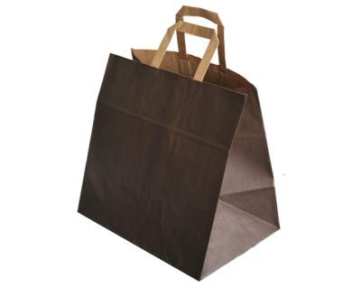 fabricante de bolsas de papel asa plana