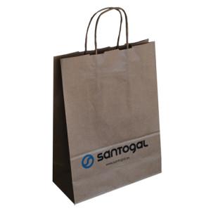 fabricante de bolsas de papel asa rizada